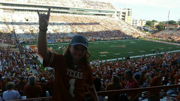 Darrell K. Royal Stadium half empty