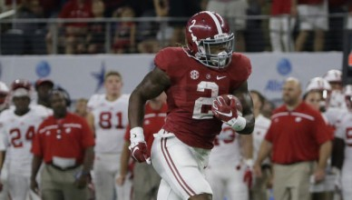 Alabama running back Derrick Henry rushes for a touchdown during the first half of an NCAA college football game against Wisconsin, Saturday, Sept. 5, 2015, in Arlington, Texas. (AP Photo/LM Otero)